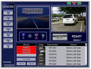 The system inside the patrol car helps police identify stolen cars or other wanted vehicles.