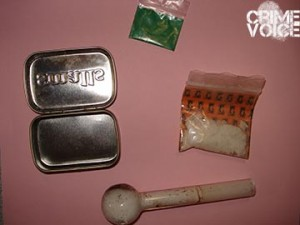 Evidence seized in a search of Miller's car.
