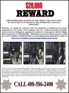 A reward had been offered for the capture of the suspects.
