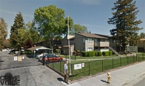 The suspects were traced to a gathering around this apartment complex on Jackson Street.