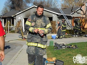 San Jose Fire Dept at a home fire. The department was kept busy by Brennan's recent activities.