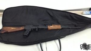 The AK-47 Assault Rifle that was found in Martinez' house.