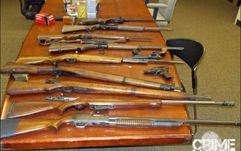 Police Seize Large Cache of Firearms and Ammunition