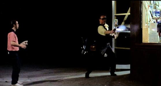 In the film American Graffiti, Toad (Charles Martin Smith) asks an adult to buy liquor for him. The man turns out to be an armed robber.