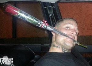 In a Facebook photo dated February 22, Mason carries a rose, possibly for his future victim.