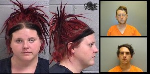 Laura Lee Kenner in her mugshot from Farmington, New Mexico. Edward Taylor Anauo and Jules Clifford Carrillo