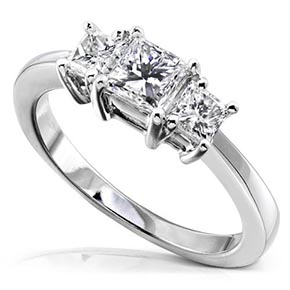 A Platinum engagement ring - this one only sells for $2300.