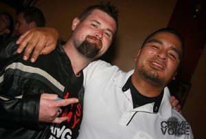 Ryan Viri (left) with a friend from his Facebook profile.