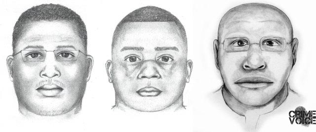 Sketches previously released by the Sacramento Sheriff of a rape suspect.