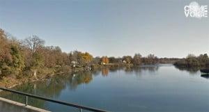 The Sacramento River behind the Hilton Garden Inn.