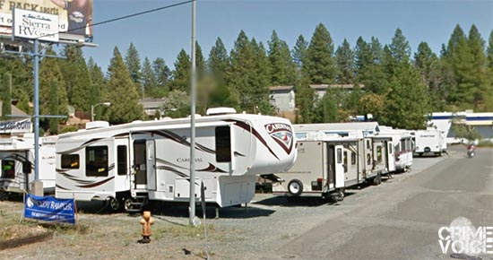 Bumgarner caused havoc at the Sierra RV center at the end of the chase.