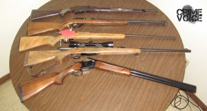 Guns seized from Steele