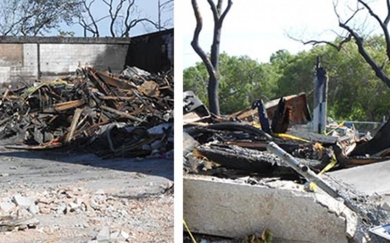 KNTV's building burned by homeless man