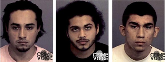 Christian Velasquez, Carlos Rodas, and Diego Dela-Cerda Guerrero were also arrested.