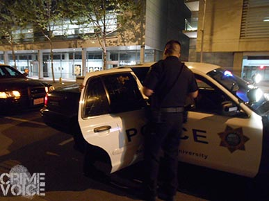 Law Enforcement presence, including  San Jose State University Police, helped keep things in check.