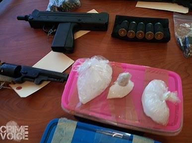 Evidence found in the arrest and search of Santiago-Gonzalez.