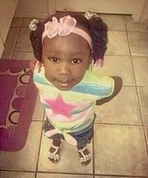 The two-year-old victim, Asianae Thomas