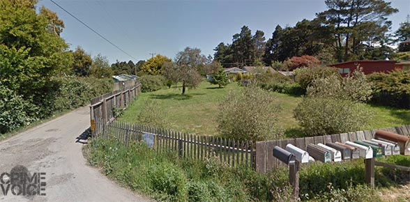 Oklahoma Lane is a private road in Fort Bragg. Furline was caught prowling in this area.