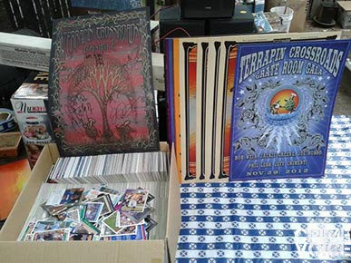 Grateful Dead posters and sports cards were shown, and were likely stolen as well.