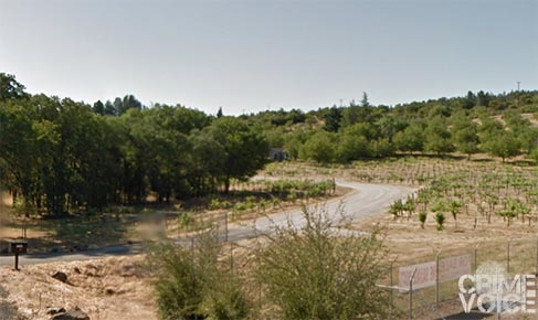 Detectives investigated the property beyond the vineyards on Smith Ranch Road.