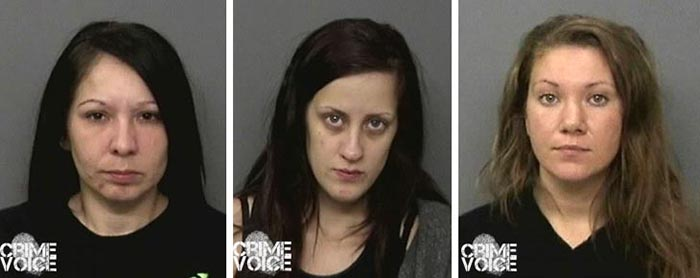 Lynette Demello, left is still missing. Krystal Kerby and Kayla Tanner have been arrested.