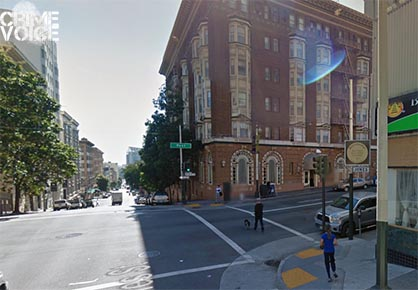The collision occurred at this San Francisco street corner.