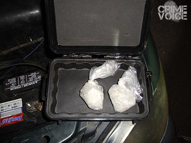 The cleverly concealed meth case was no match for the Sheriff's canine.