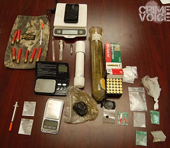 Evidence seized from the house from Bowman's nightstand.