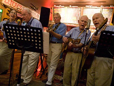 """Chip"" Northup sings with the Crawdads, 2011. He is on the far right. (Facebook)"