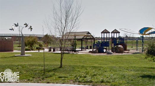 Peregrine Park in Natomas, where a child's birthday party was the scene of a deadly shooting.