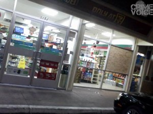 The victim was killed near this 7-11