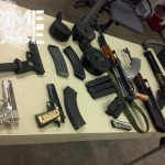 ....more of the seized weapons....