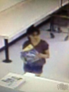 Robbs in a surveillance photo from the laundromat.