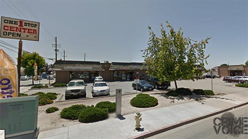 One Stop shopping - Ramirez held up a business and stole a car in this shopping center.