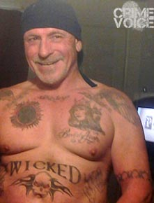 Brett Harlan shows his other tattoos in a Facebook image.