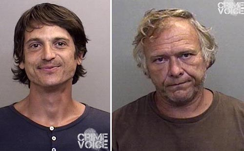 Timothy Steven Lepore and Mark Paul George (Mendocino County mugshots)