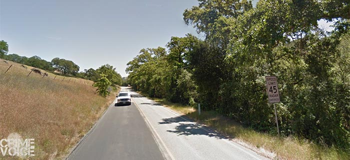 The body was discovered off this rural road in Morgan Hill.