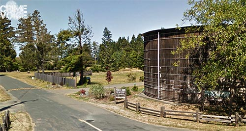 The pair took over a vacation home in this area north of Mendocino.