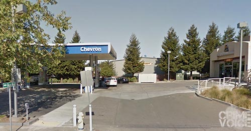 The Chevron Station in Petaluma that was robbed.