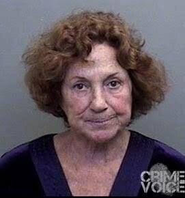 Elaine Rita Matthews, Mendocino County booking photo.