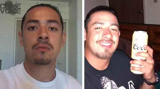 Images for Marcos Escareno from Facebook. Left - while incarcerated, and right - earlier in the day of the beating incident.