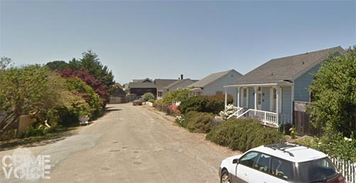 Counterman parked his car on Pine Street in Mendocino.