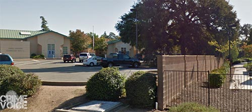 The brothers were found in the Shasta Oaks Circle neighborhood (right) near Ferris Spanger School (left).