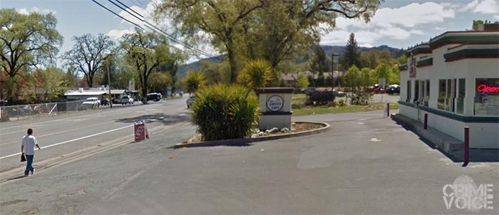 Ruiz was walking aloing State Street in Ukiah, much like the man in this Google Maps image, when he was noticed by deputies.