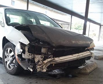 This was not Roe's first problem with a vehicle. This picture from Facebook was a Honda he lost in a head on collision. It was a gift from his parents.