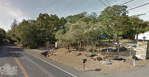 The pair chose the wrong home along Mark West Springs Road in north east Santa Rosa.