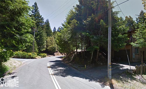 Poppy Drive in north Willits curves through forest land with homes sparsely located off the road.