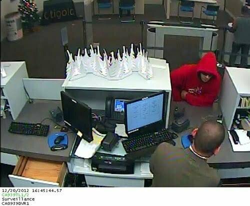 Surveillance image from San Rafael Citibank (San Rafael PD)
