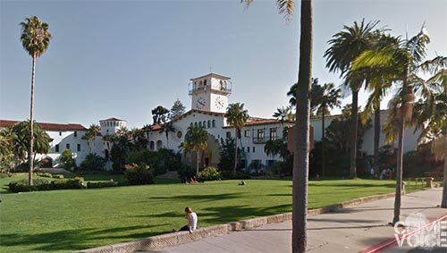 The  picturesque Santa Barbara Courthouse.
