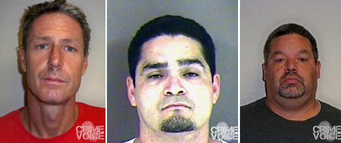 Troy Lemings, Isaias Sernas, and Martin Guardado were also arrested in a sex offender check.